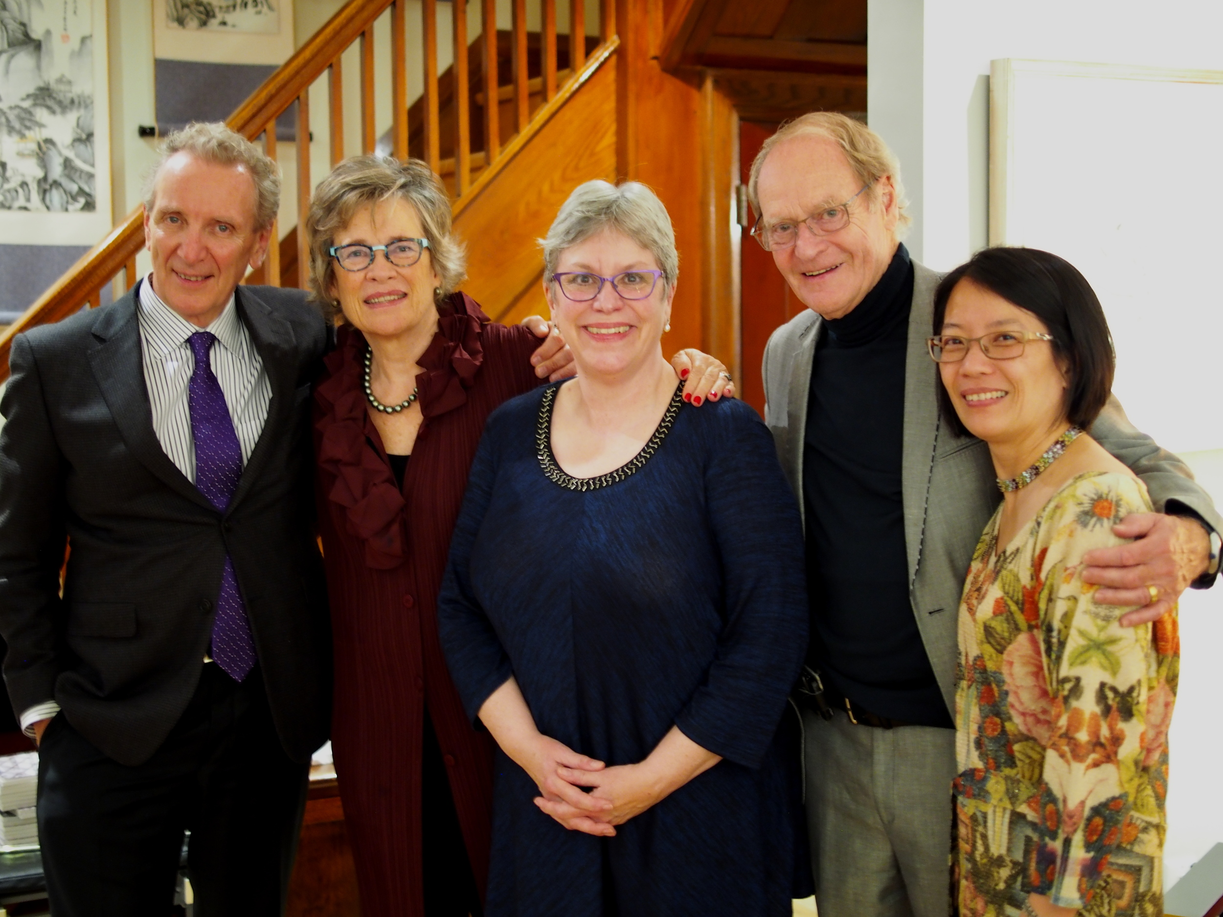 From left to right: Eric Friessen, Carol, Isobel Heathcote, John Wright, and Chung-Wai Chow.