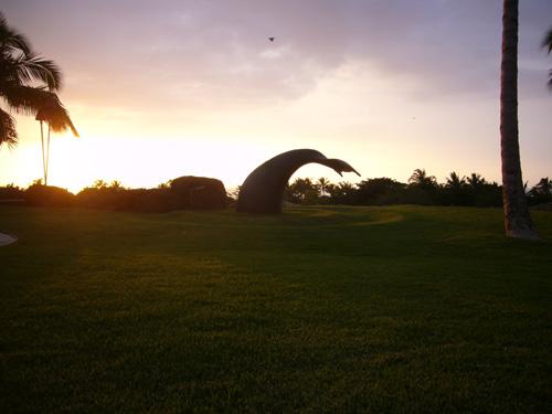 Sculptures at Mauna Kea Bluffs