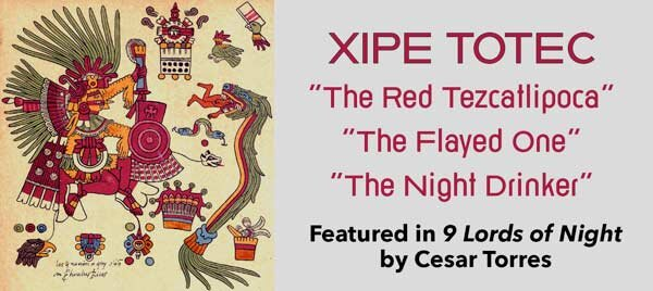 The Aztec God Xipe Totec and his multiple names