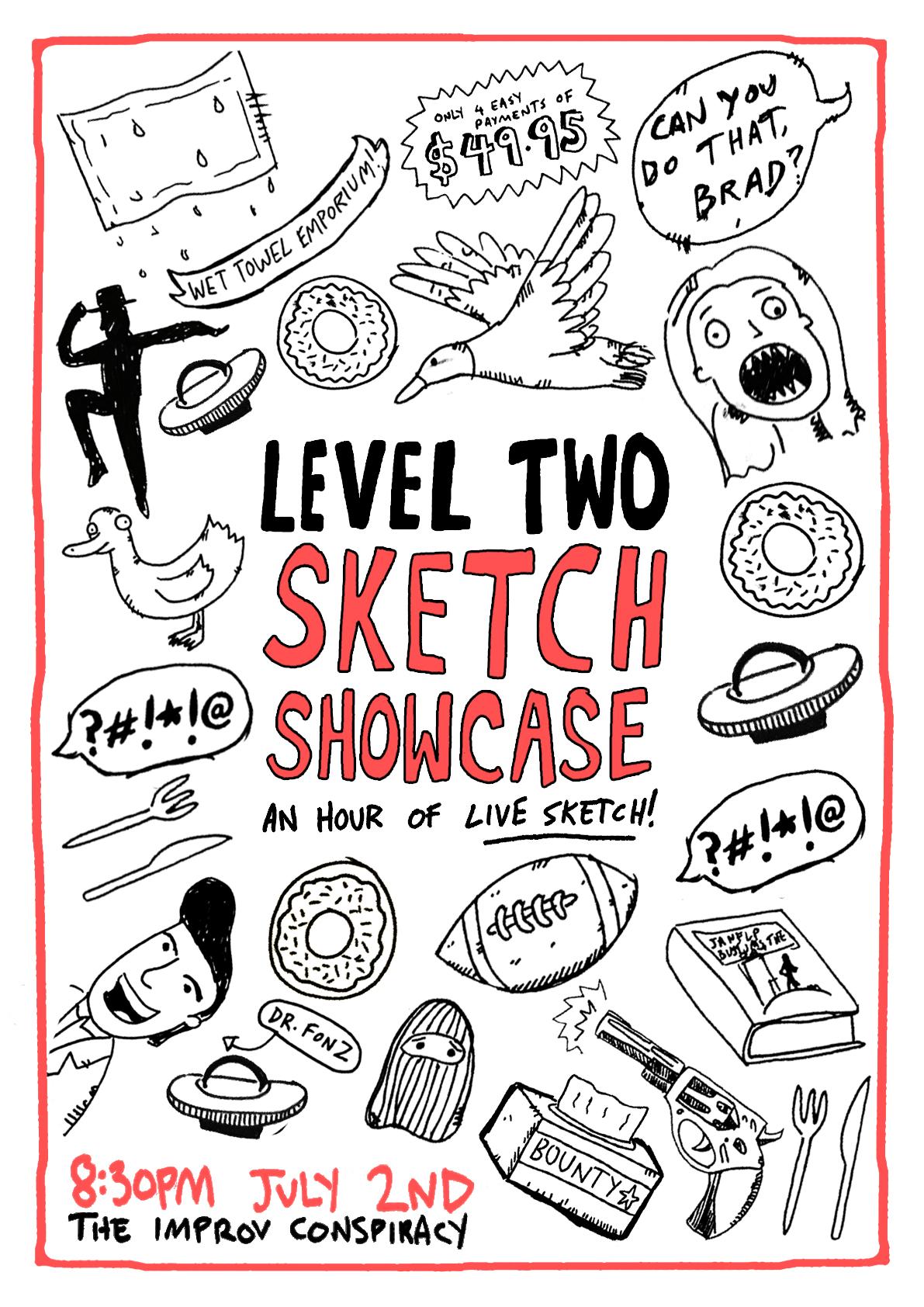 L2 Sketch Showcase    | Sketch show poster