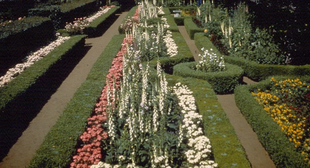 Formal gardens at the former Moseley Estate