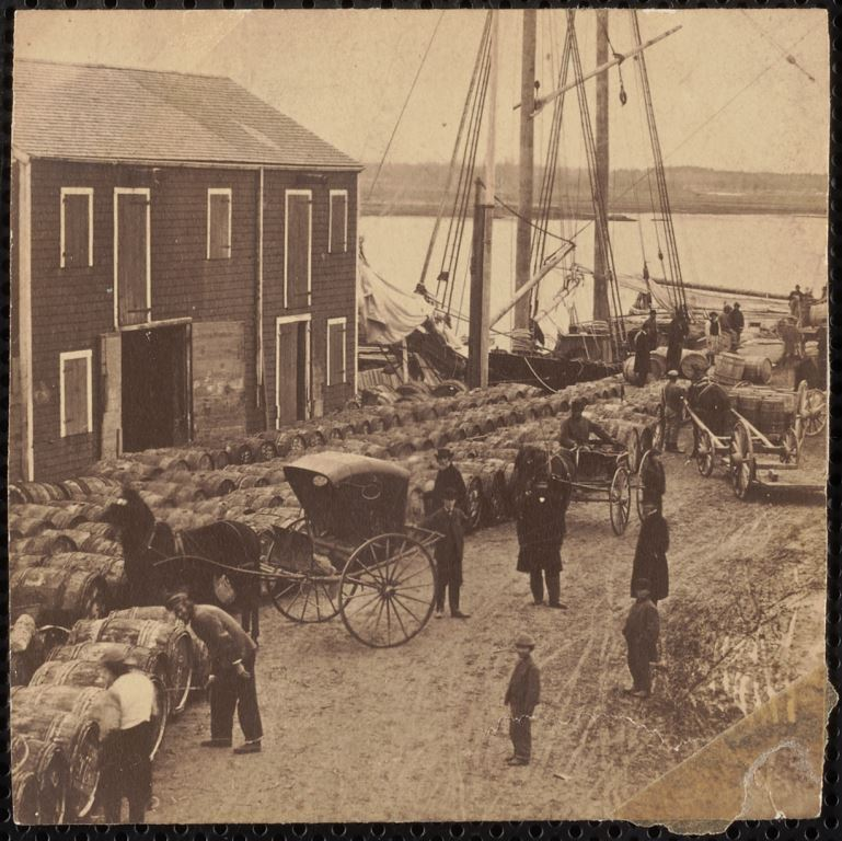 Bayley's Wharf, Newburyport 1870s