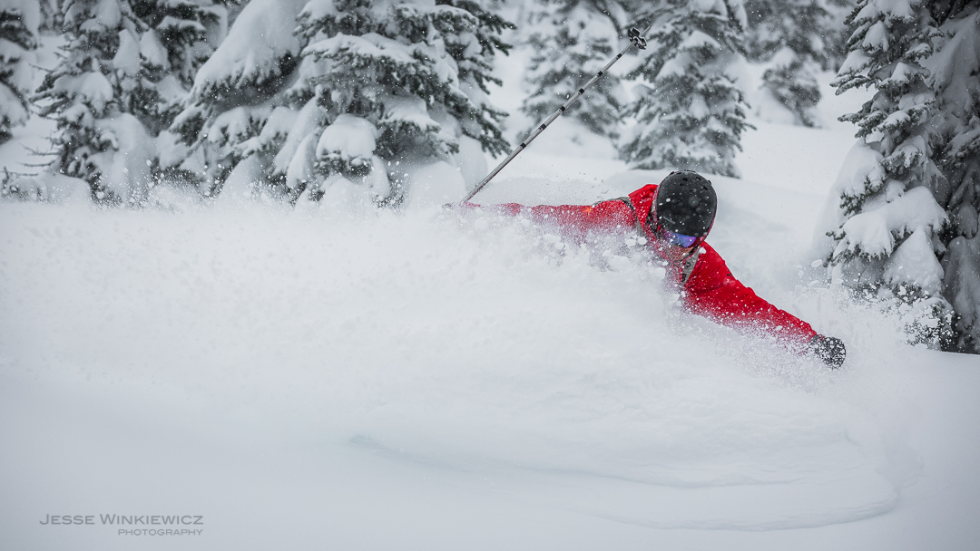 Pictures courtesy of Jesse Winkiewicz (@jessewinkiewiczphotography)  Base: 328 cm  24 Hour: 19 cm  72 Hour: 72 cm  Past 7 Day: 92 cm  TOTAL SNOWFALL: 700 cm  Another epic ski week is upon us, and the storms just keep rolling on in like a runaway freight train. Yeah, the Powder Express is here! We've been accepting delivery of just about a meter of fresh snow this week and we're keeping the station wide open for business. It's been deep and delightful; really --- just check out the new picture posted. There's no end in sight, and we're beginning to wonder if we're stuck in some sort of snowy twilight zone. Actually, we're not wondering that hard --- we're too busy skiing, and if there's a world beyond our powdery bubble, then we're not in a hurry to find it!  Come and join us in March for a snowy feast of epic proportions, because believe me, there's plenty to go around…