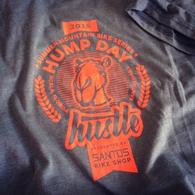 Thanks to the great folks at @santosbikeshop for sending me a sample #Tshirt with the #HumpDay #hustle #logo that I designed for them last year. It looks great guys! #screenprinting #design #illustration #illustrator #lettering #handlettering #camel #badge #mountainbike #mountainbiking #cyclinglife #onecolor #vectorart #tshirtdesign