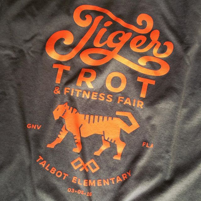 This #Tshirt design that I did a little while ago came out pretty nice. Thanks @amyselph for the sample. ##design #illustration #illustrator #vector #handlettered #handlettering #silkscreen #onecolor #tiger #badge #typelockup