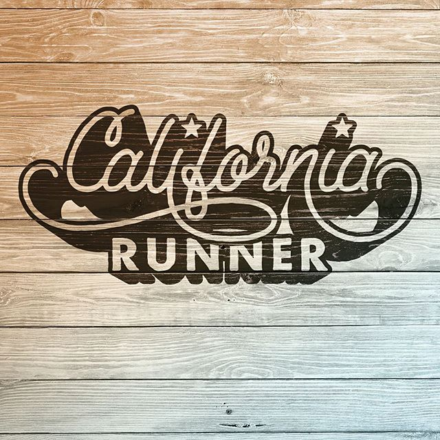 Another view of the #California #Runner #design that I #handlettered . #handlettering #script #monoweight #illustrator #vector