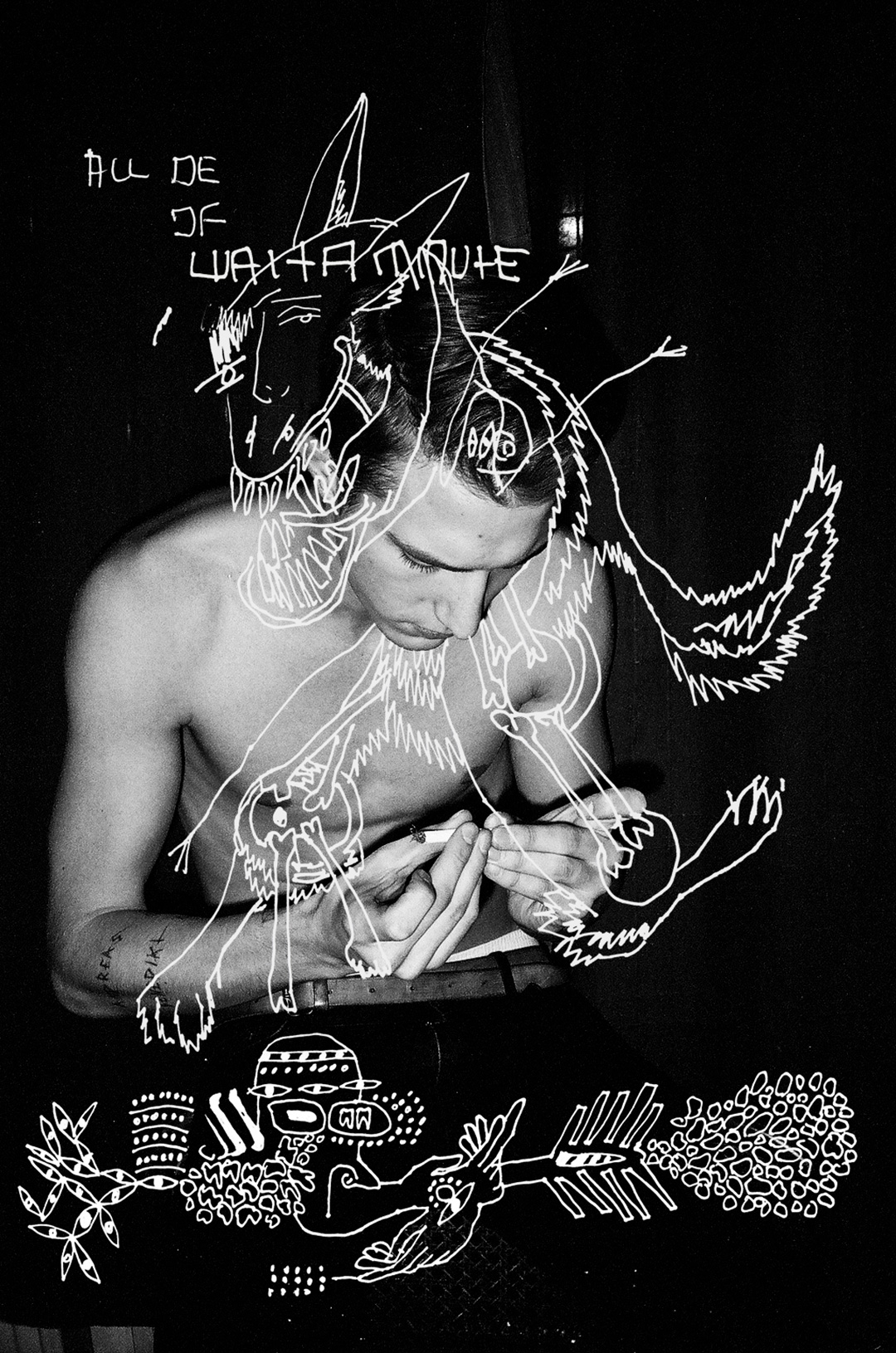 ANDI  REMOTE VIEWING  Photo by Matt Lambert, Drawing by Brian Kenny