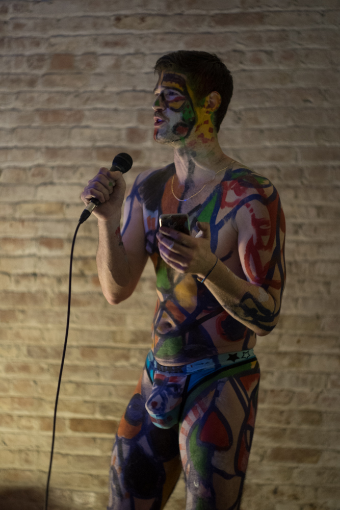 OTK 2 , a live art performance/salon curated by Brian Kenny and Gio Black Peter, American Medium gallery, NY 2018. Photo: Natasha Gornik.