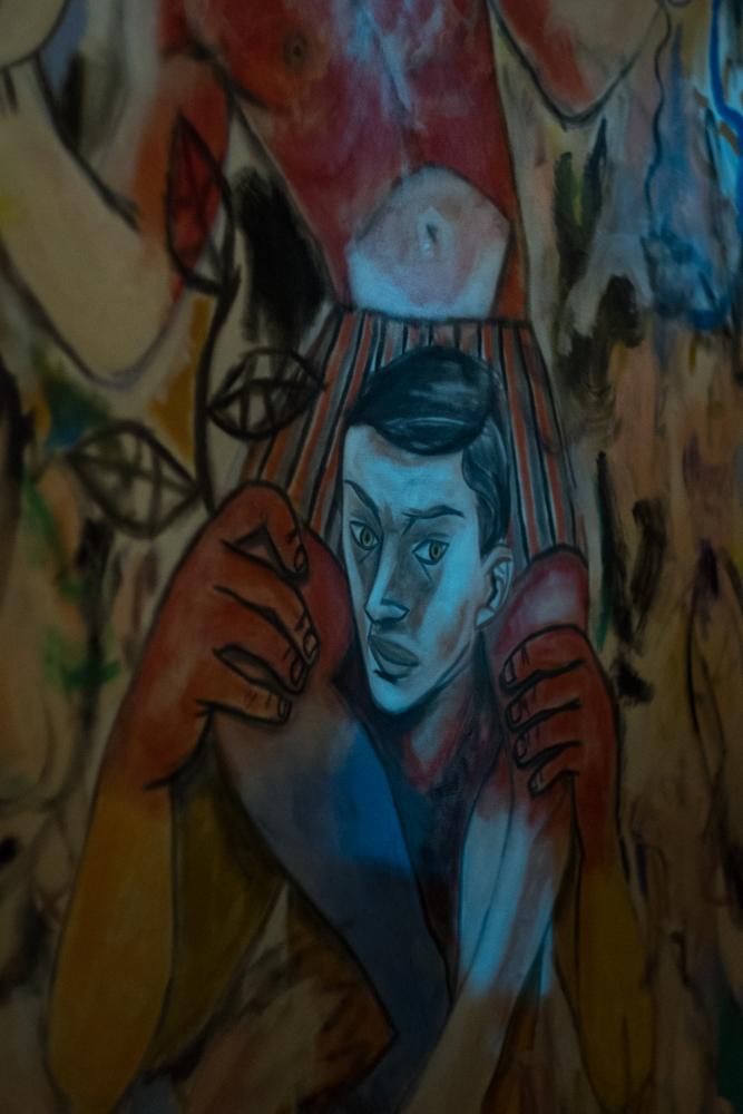 OTK 2 , a live art performance/salon curated by Brian Kenny and Gio Black Peter, American Medium gallery, NY 2018. Photo: Natasha Gornik.