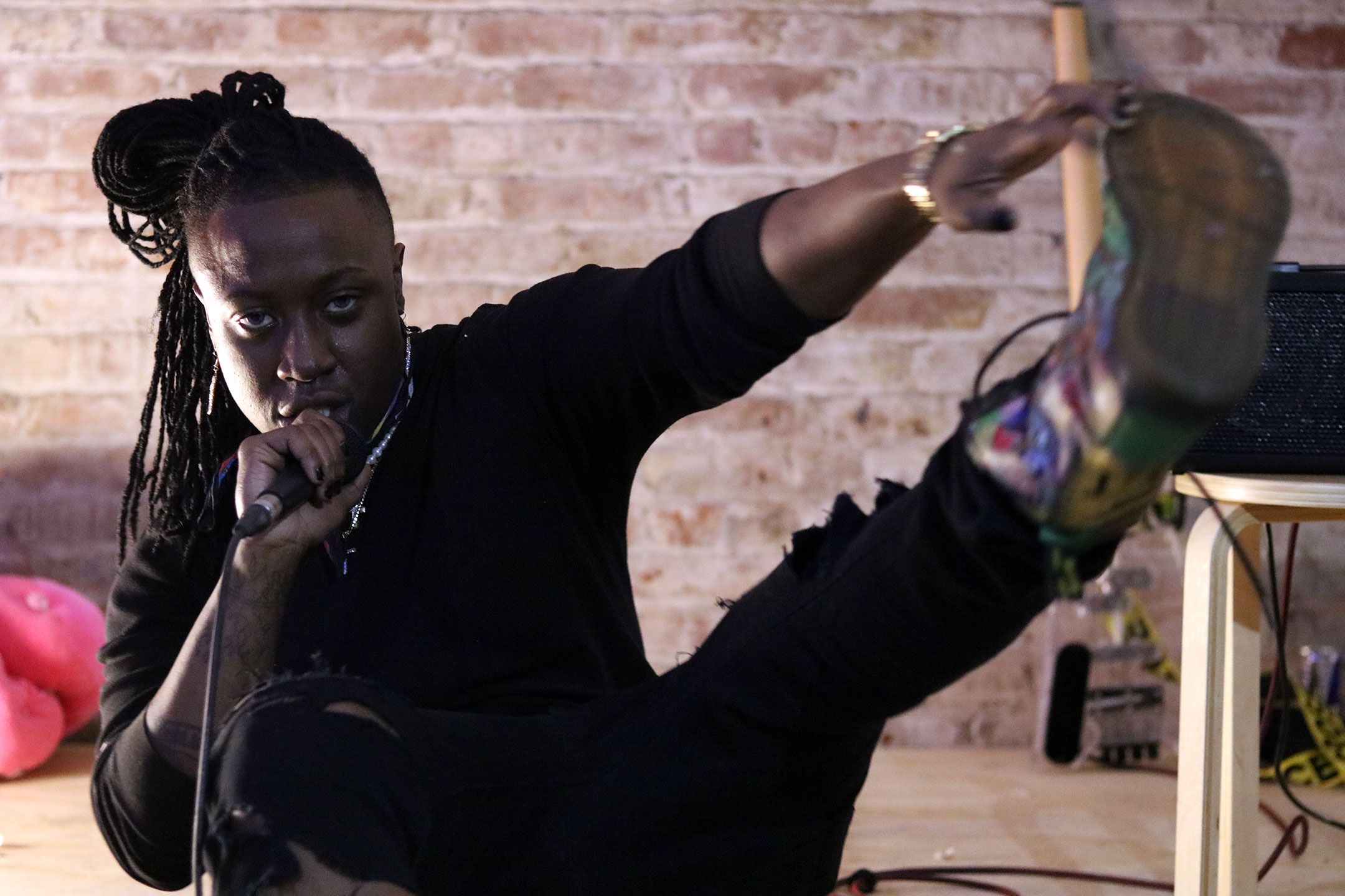 OTK 2 , a live art performance/salon curated by Brian Kenny and Gio Black Peter, American Medium gallery, NY 2018. Photo: Brian Kenny