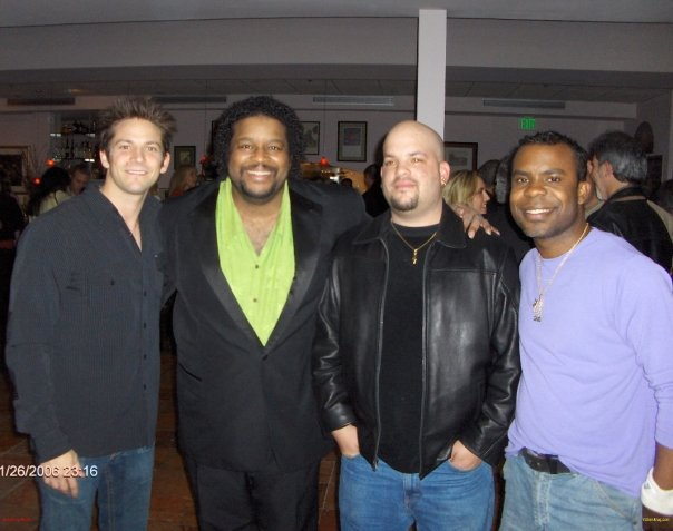 """J in L.A. with Jeff Timmons (98 Degrees), Delious (All-4-One) and Mark """"The Shark"""" Brower!"""