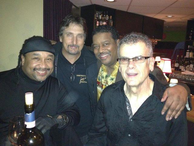 J with Drummer CARTER BEAUFORD (DAVE MATTHEWS BAND), Saxophonist TOM POLITZER and DRUMMER DAVE GARIBALDI (TOWER OF POWER)!