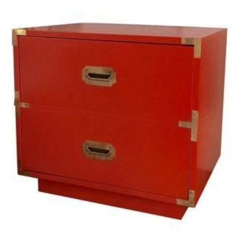 red campaign dresser