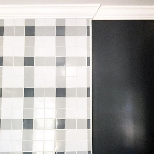 Guest Bath shower tile being installed at #projectbrittanymeadows  We Hope the guests will be pleased 💙