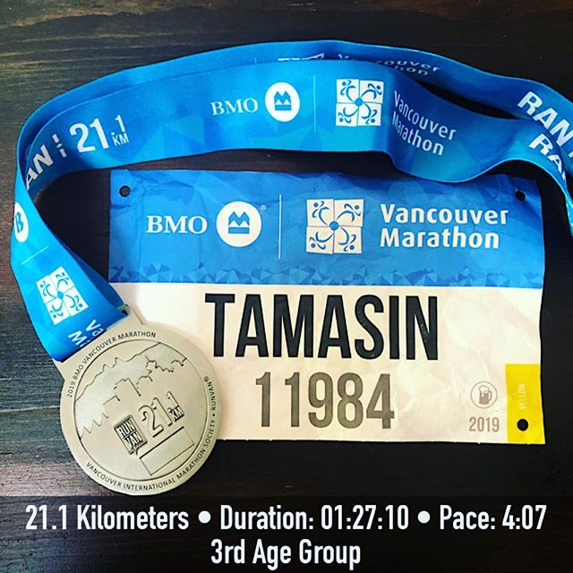 Limits tested, boundaries pushed, lessons learned. I didn't get the result I wanted, I exploded at 15k, I'm a bit disappointed, but I didn't race smart either! So... Onwards... #fasternexttime #workinprogress #bmomarathon #halfmarathon #lovetorun
