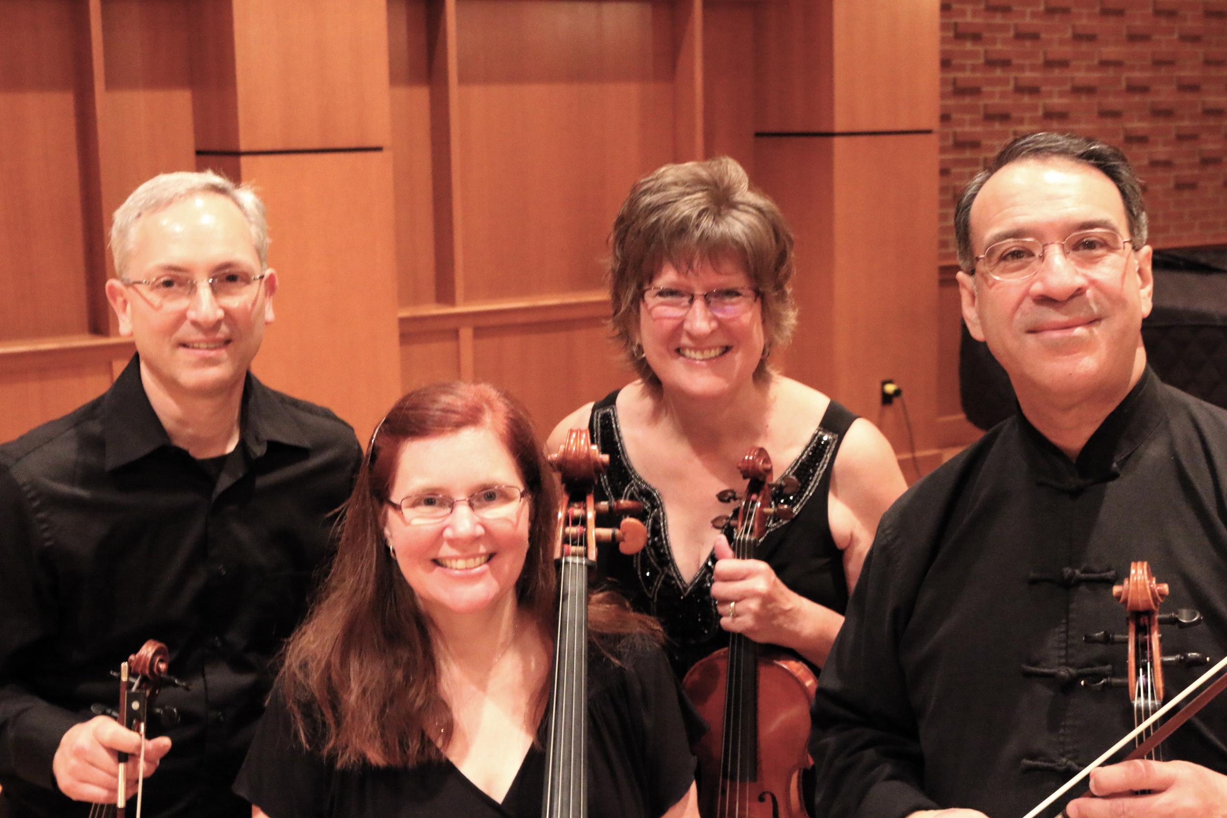 Marcus Smolensky and Priscilla Auer, violins; Christopher Para, viola; Rachel Kauffman, cello
