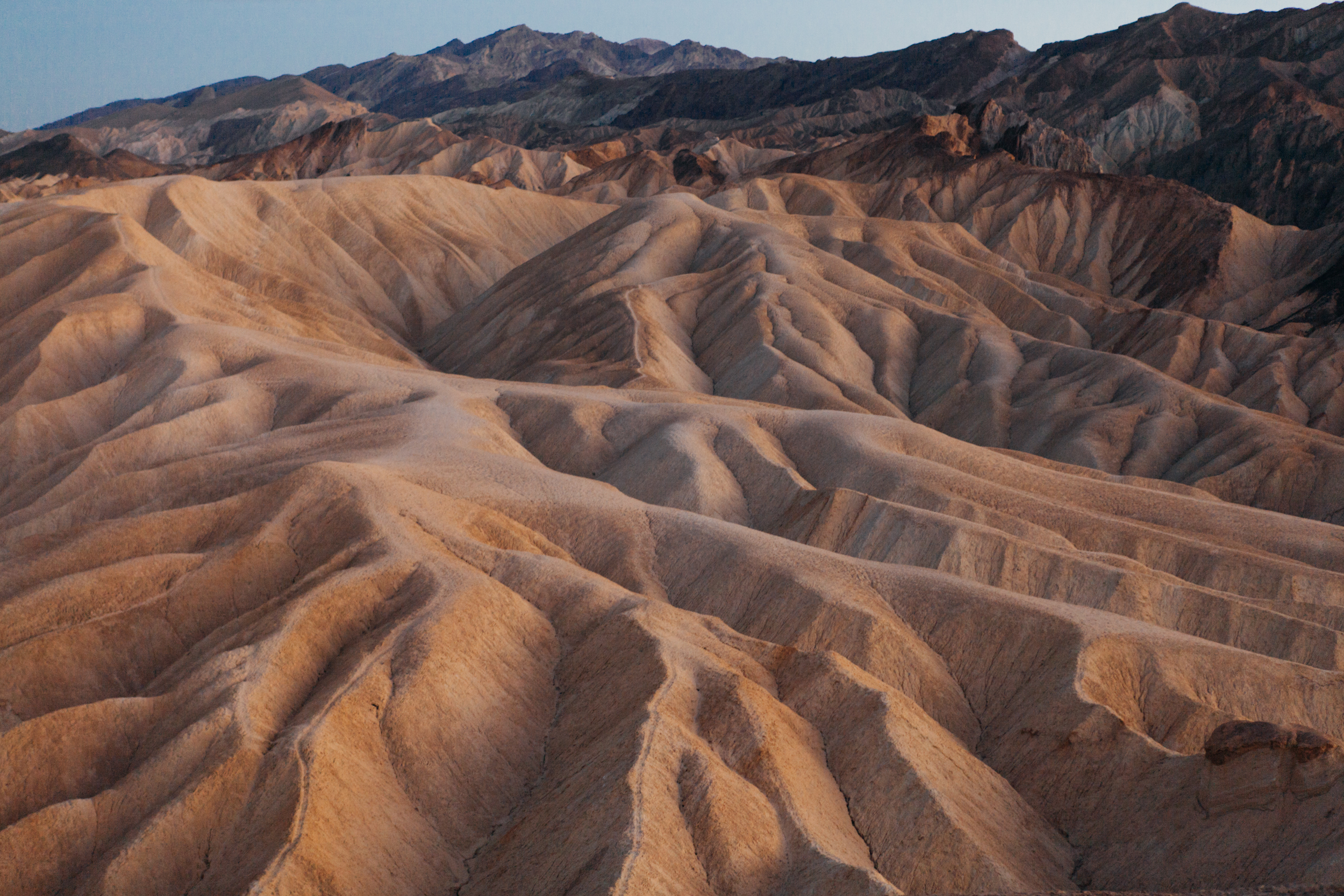 Zabriskie Point. Lit by pure moonlight