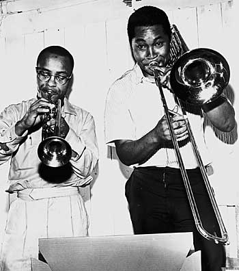 Bobby Bradford and Cleve Williams at the   Cotton Club, 1950s