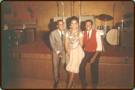 Sammy Davis Jr., Geneva & Paul Knauls at the Cotton Club. Photo via  Boise Voices