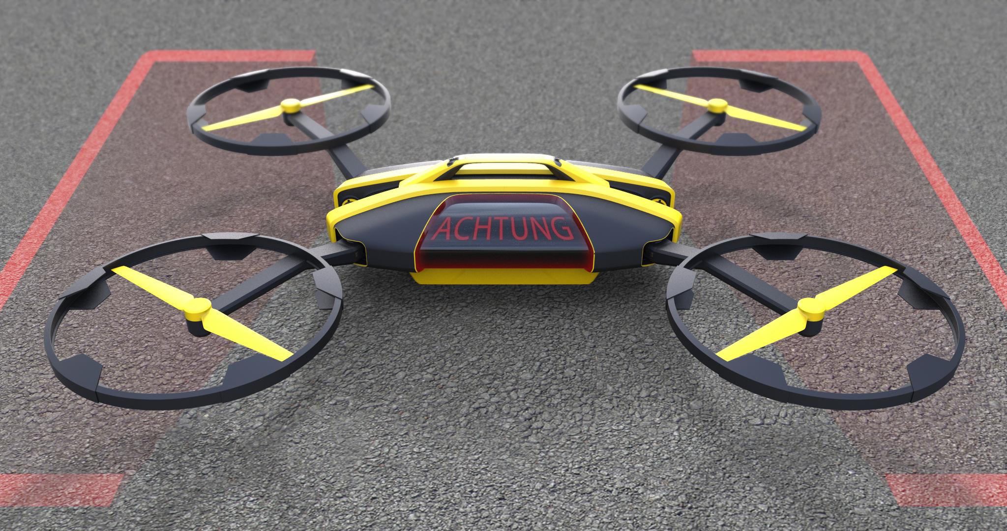 Entwurf: Armin Schellmann und Christopher Hable I ÖAMTC Drohne
