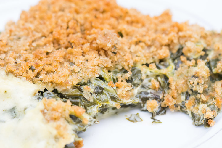 creamed spinach -