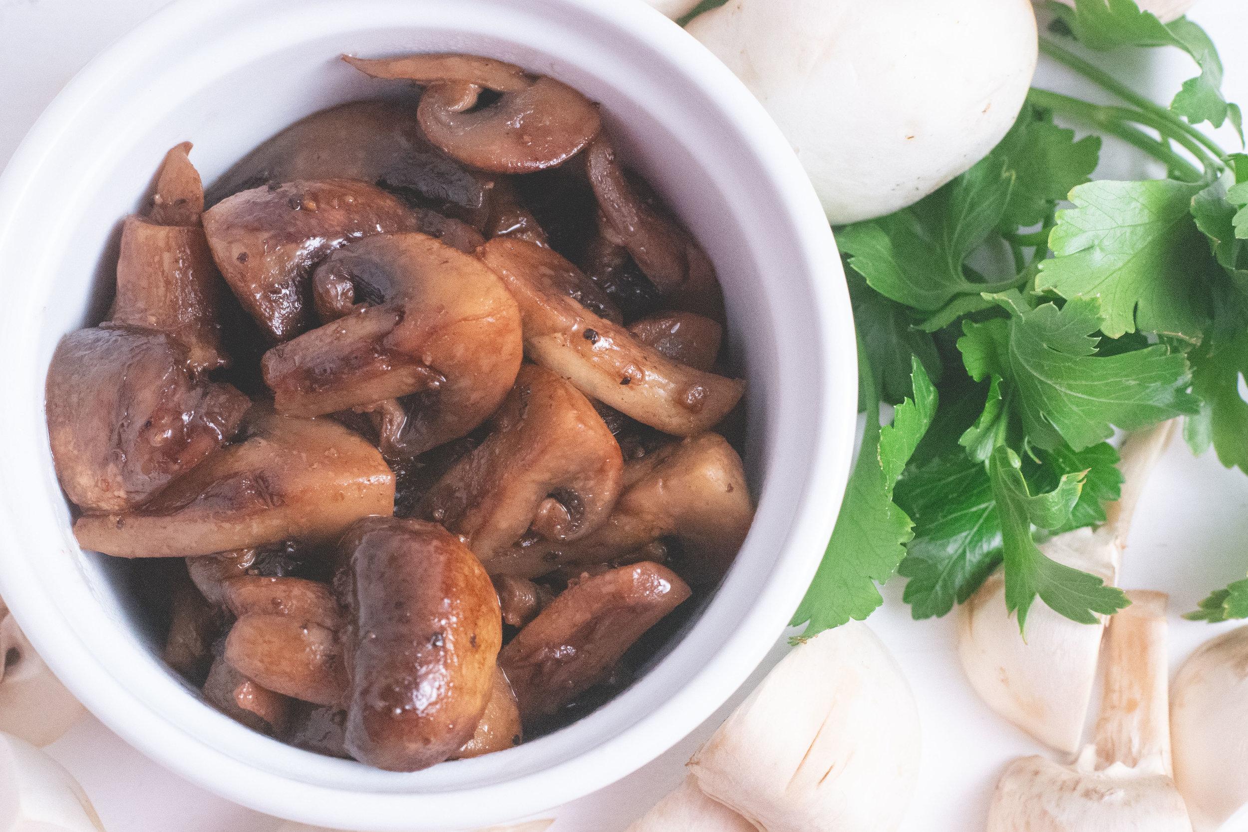 red wine mushrooms -