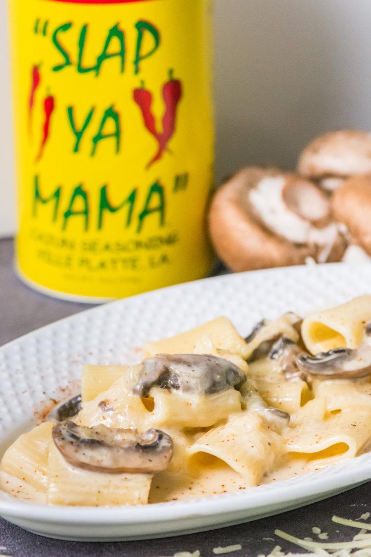 jazzy mushroom pasta -