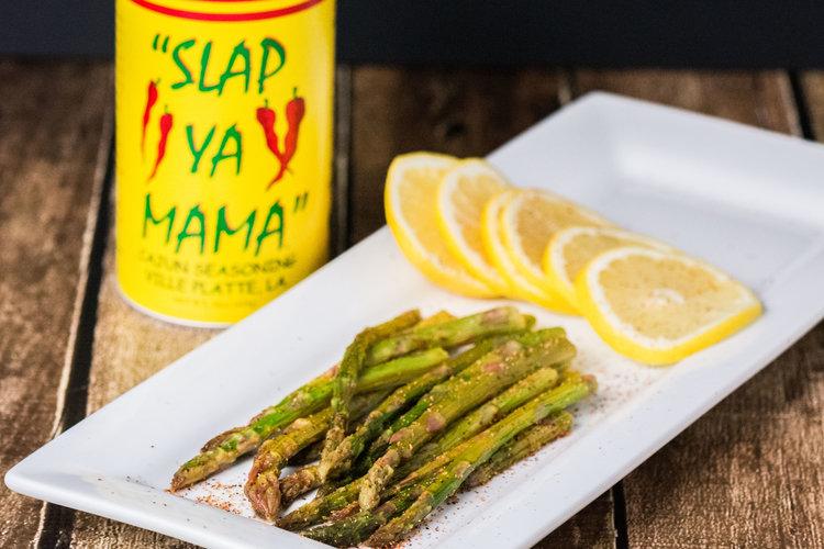 kicked up lemon asparagus -
