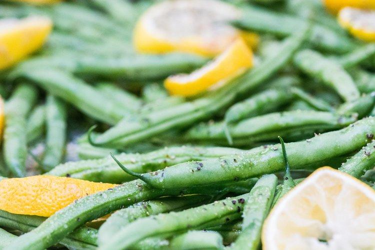 lemon roasted green beans -