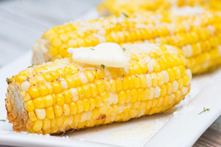 oven roasted corn -