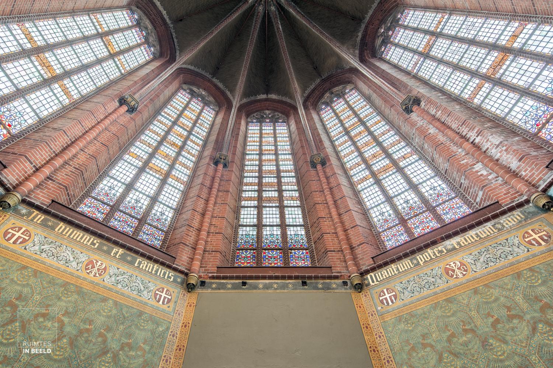 Gerenoveerde Annakerk in Breda, waarin kantoren zijn gevestigd| renovated church in Breda, Netherlands