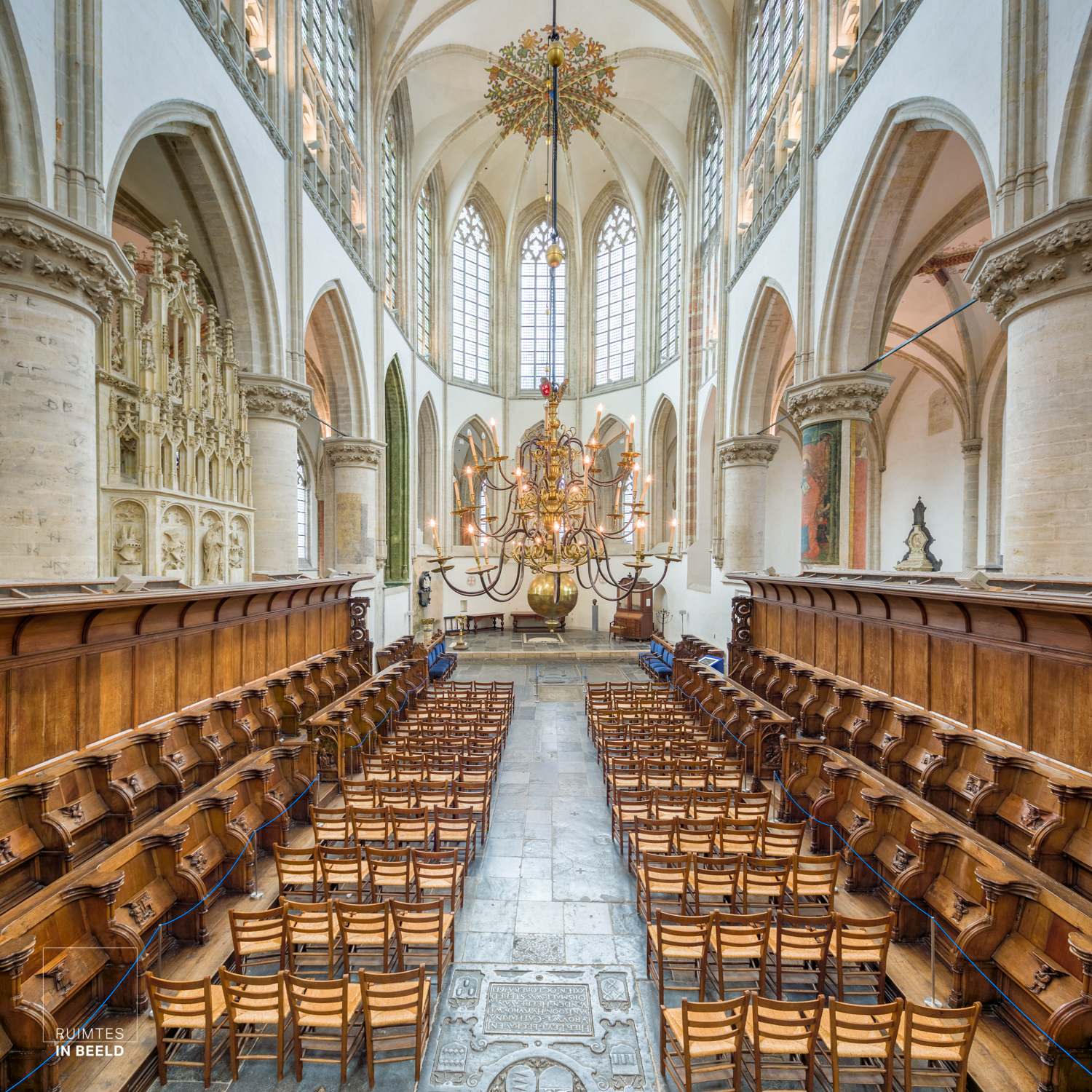 Interieur van de Grote Kerk in Breda | Interior of the grand church in Breda, Netherlands