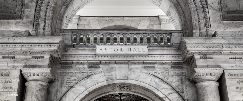 Astor hal in de New York Public Library | Astor hall in NYPL