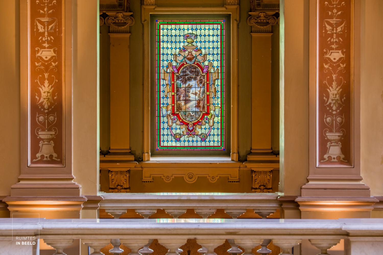 Gebrandschilderd raam in Kasteel Oud-Wassenaar   Stained glass window inOud-Wassenaar Castle