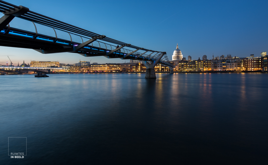 London Thames river with St Pauls cathedral in the background