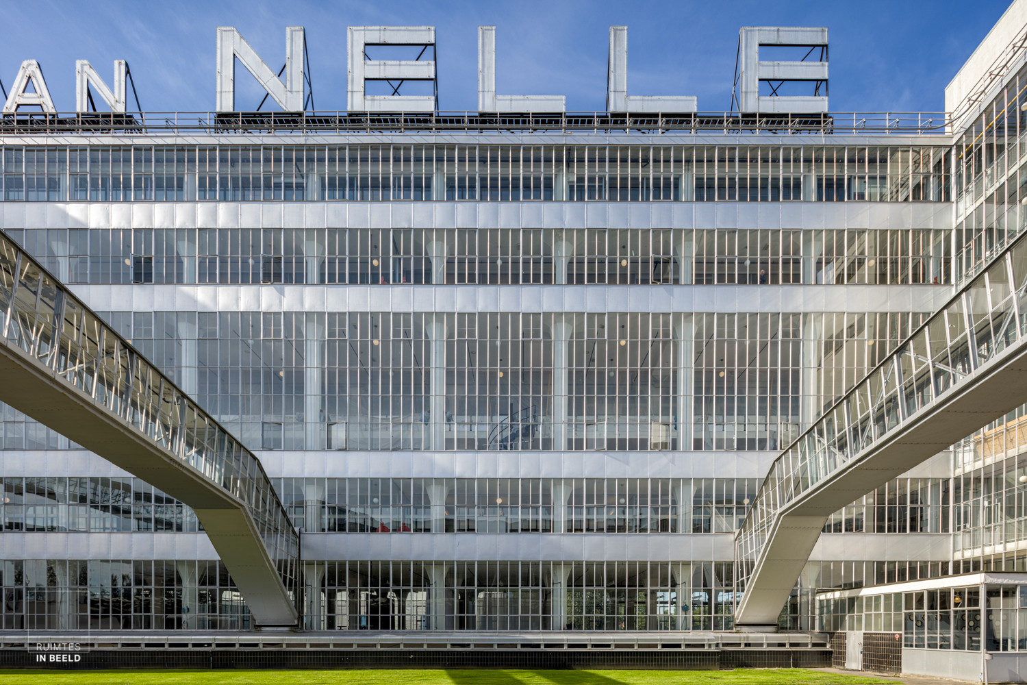 Exterior of the Van Nelle Factory, since 2014 on the list of UNESCO as a World Heritage site