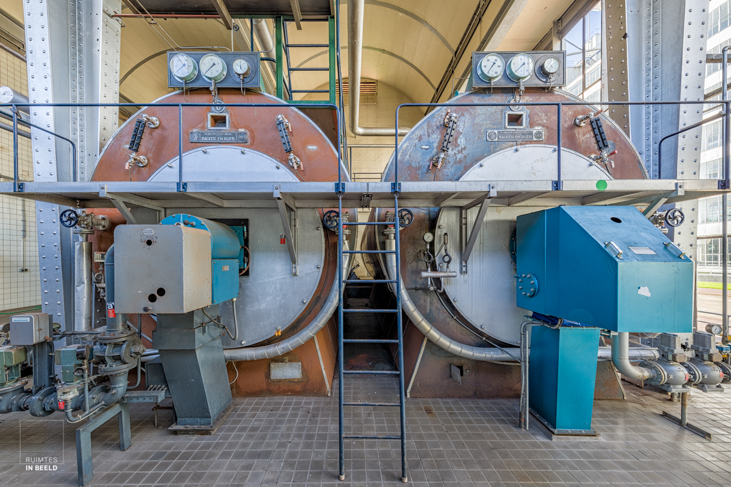 Machine room of the Van Nelle Factory, since 2014 on the list of UNESCO as a World Heritage site