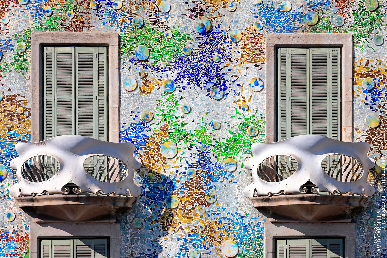 Casa Batlló, masterpiece of Antoni Gaudí. Photograph by @David Cardelús.