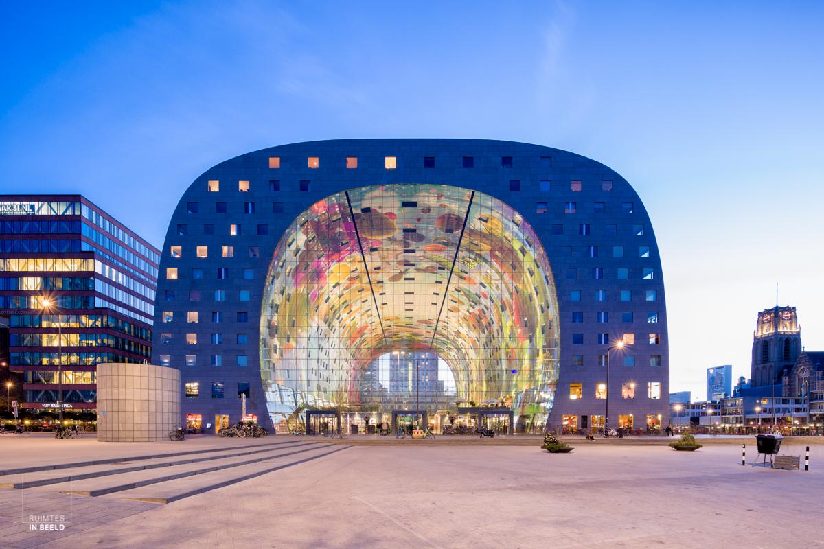 De Markthal in Rotterdam in volle glorie | Exterior of the Markthal in Rotterdam, Netherlands
