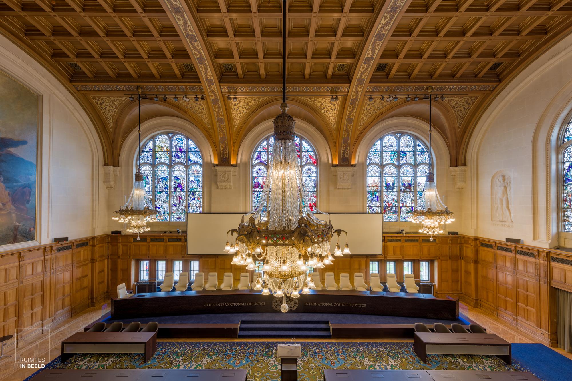 Rechtszaal Internationaal Gerechtshof