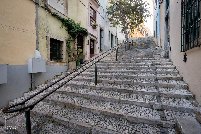 Steile trappen