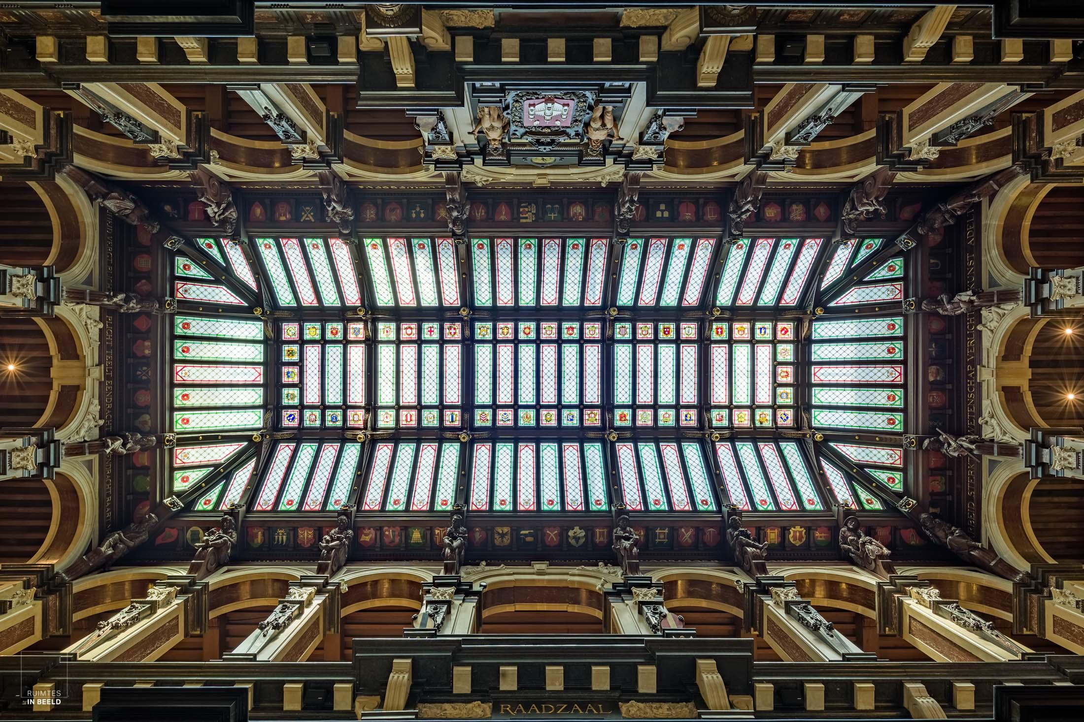 Plafond in stadhuis van Antwerpen | ceiling in Antwerp city hall