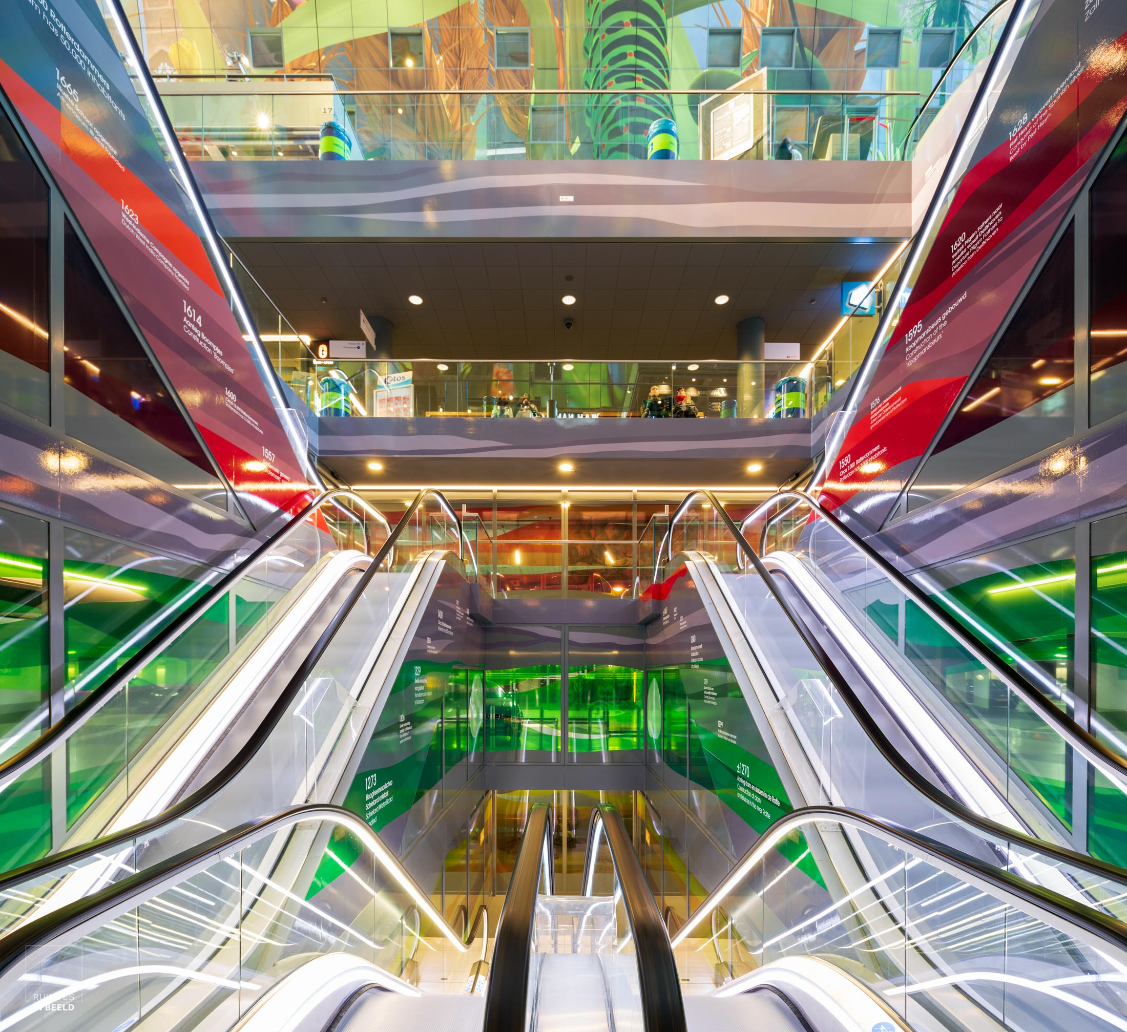 Roltrappen in Markthal Rotterdam | Moving stairs in Market hall, Rotterdam Netherlands