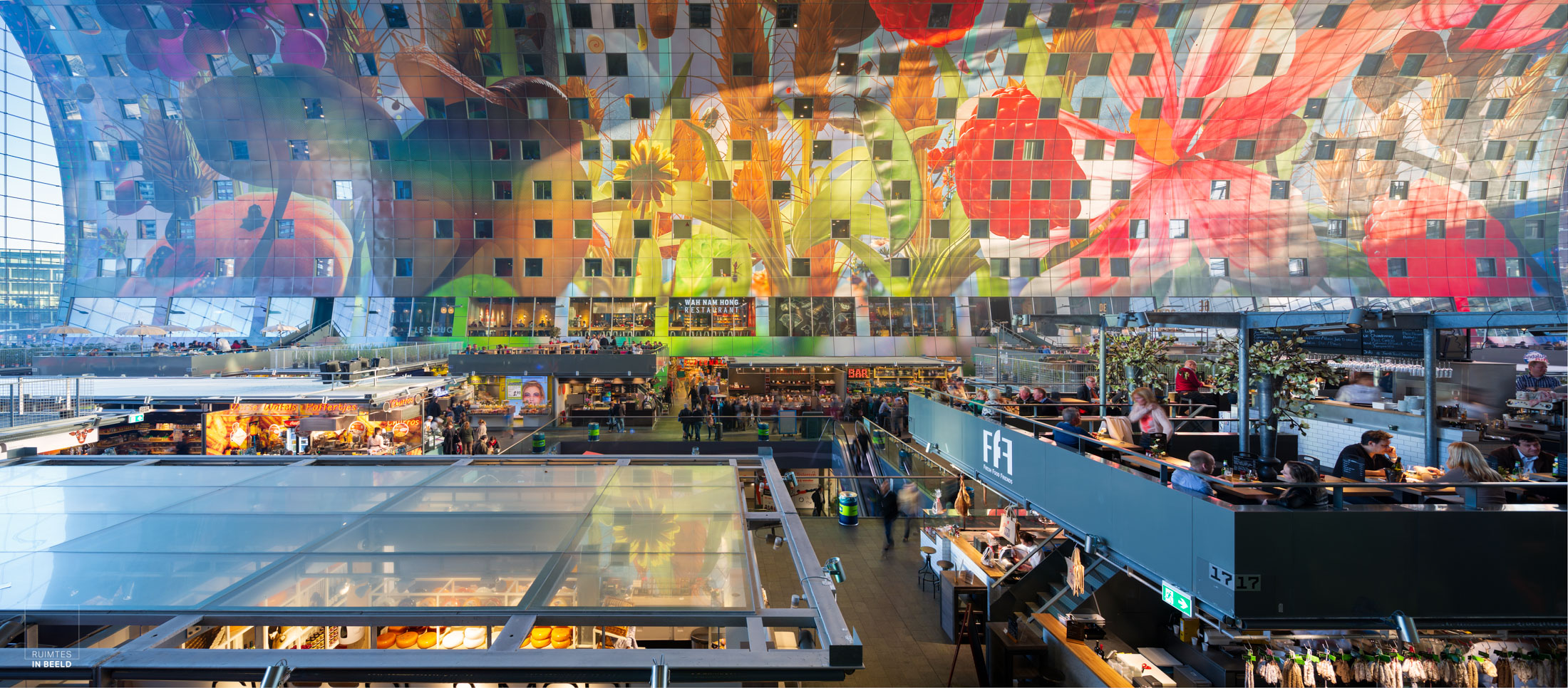 Panorama in Markthal Rotterdam   Panorama of Market hall, Rotterdam Netherlands