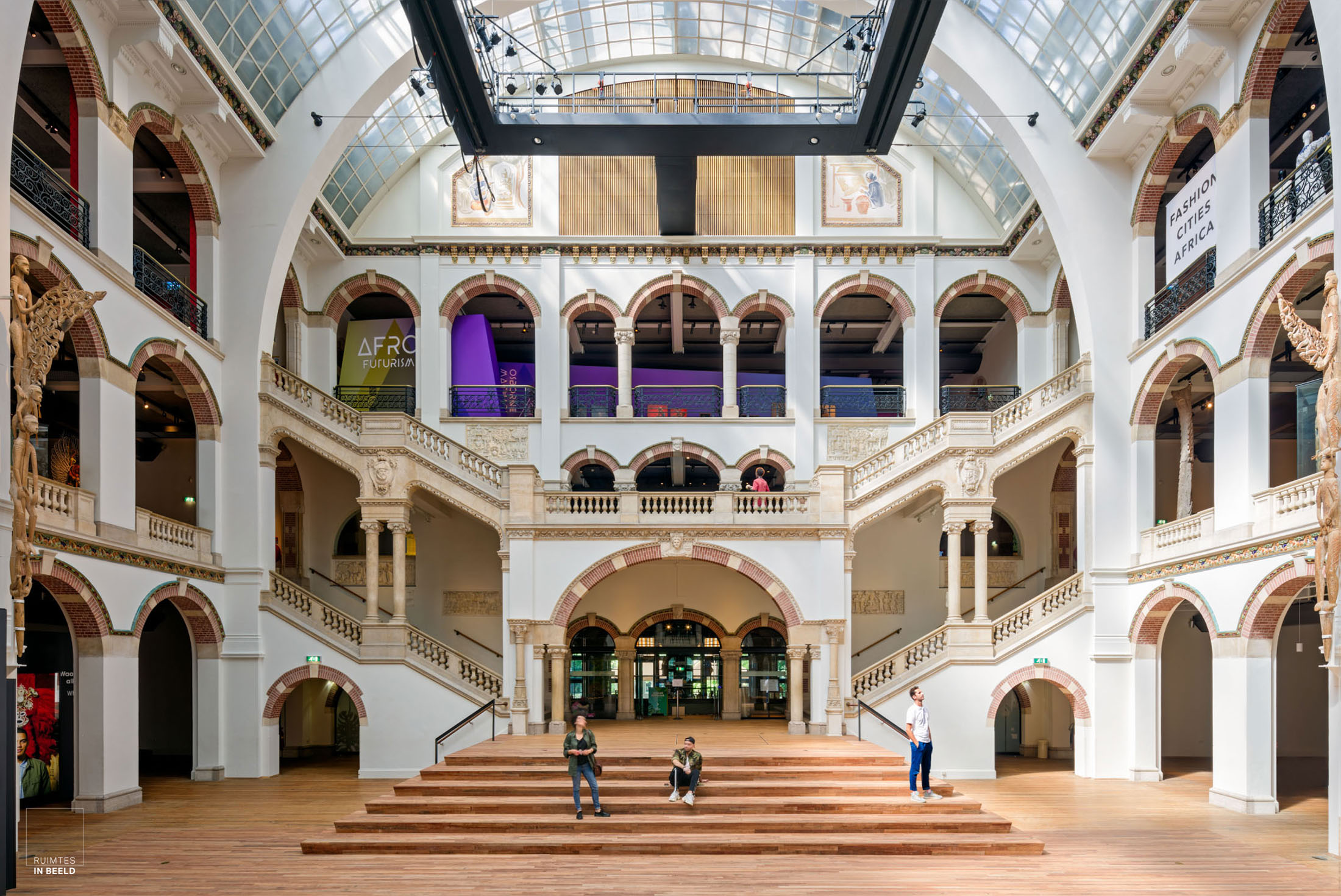 The main hall of the Tropenmuseum in Amsterdam, the Netherlands, one of the leading ethnographic museums in Europe.