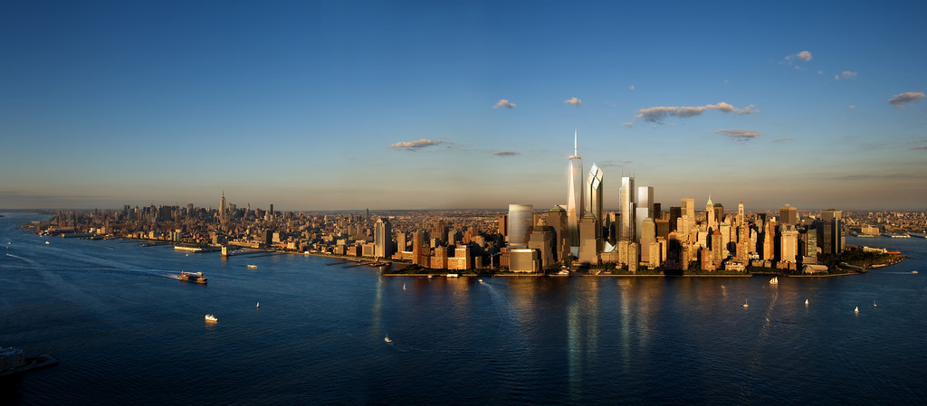 Manhattan Skyline with the WTC Full Rendering.jpg