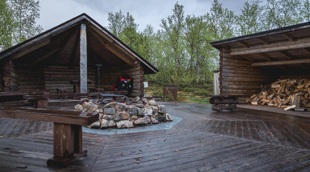 Sotkajärvi laavu providing shelter.