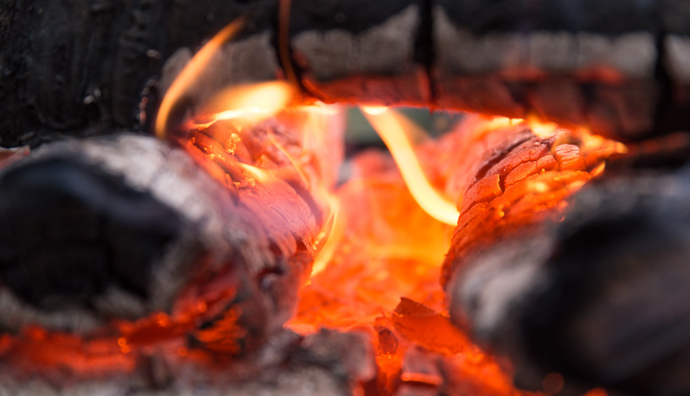 Staring at the fire is incredibly calming.