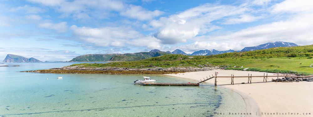 You might not expect views like this in North Norway, but there are actually quite a few nice beaches around.