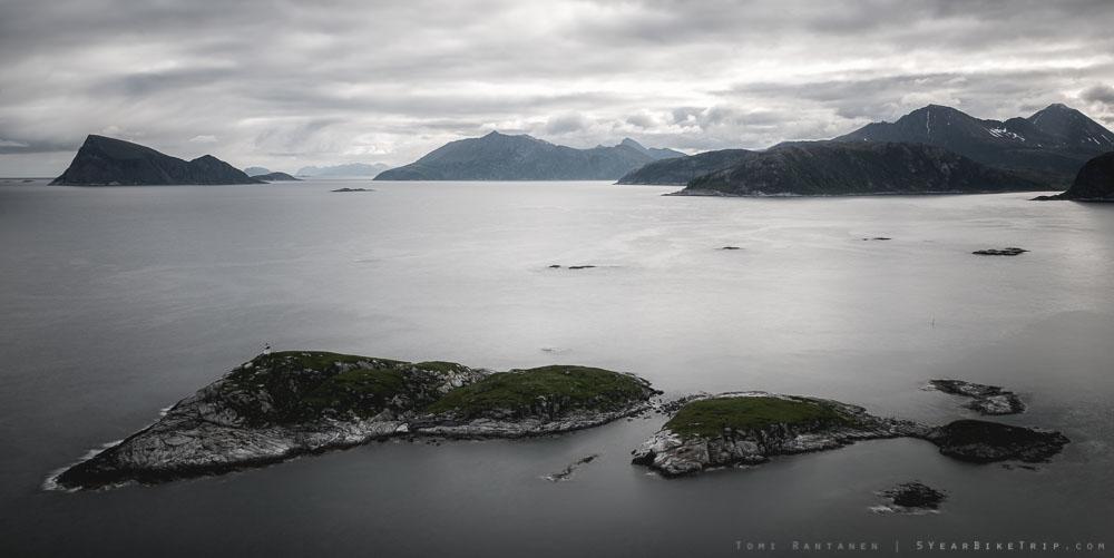 Islands off Sommaroy, Norway.